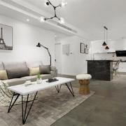 客厅北欧沙发100平米装修