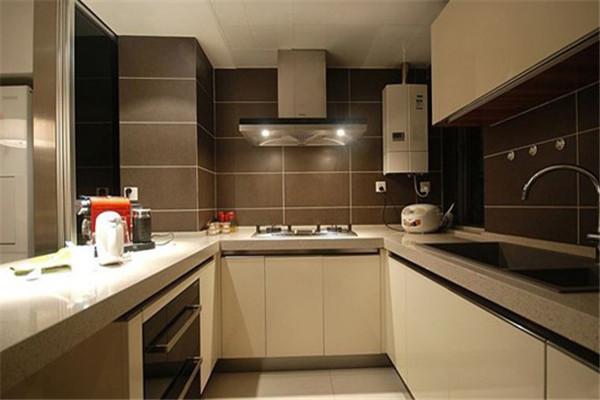 60平米小户型u字形厨房装修效果图
