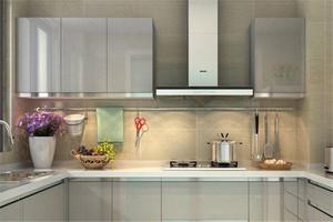 55平米小户型u字形厨房装修效果图