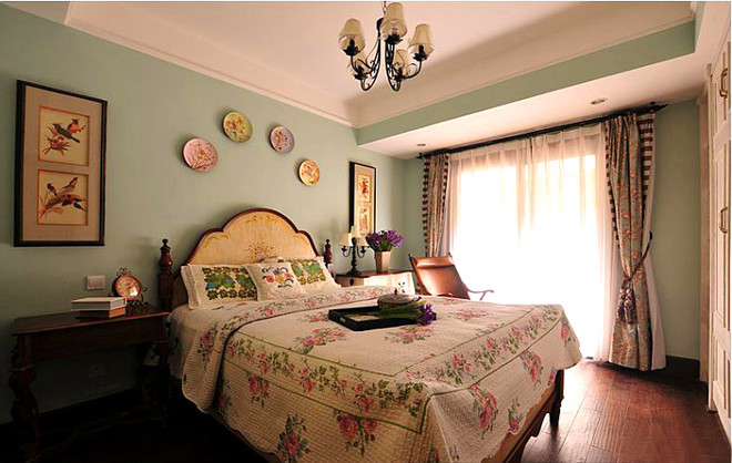 美式田园卧室设计图