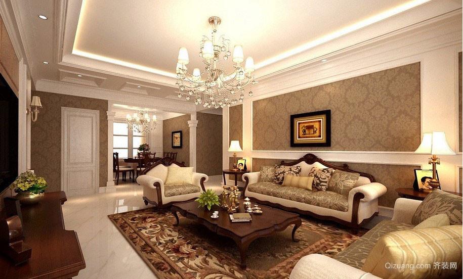 美式别墅客厅效果图