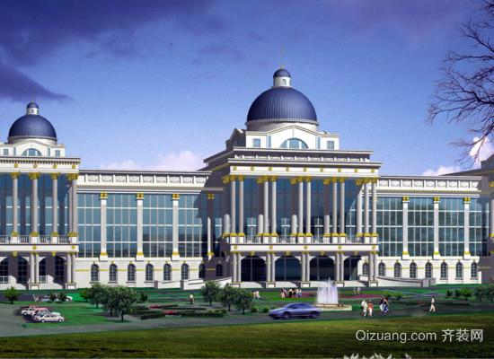 欧式建筑效果图