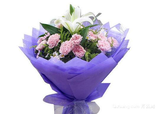 康乃馨花束观赏图