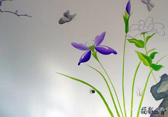 颜料画花朵步骤图解