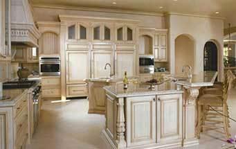 欧式经典的别墅型厨房装修效果图鉴赏