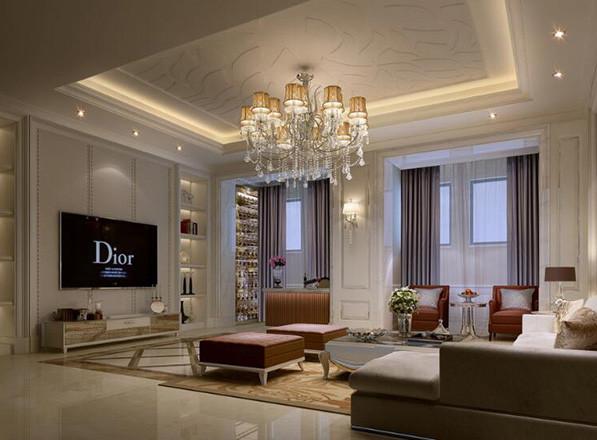 精致的的大户型欧式客厅装修效果图鉴赏