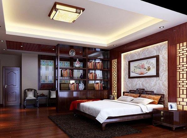 中式卧室装修精品效果图