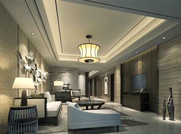 中式混搭风格客厅装修效果图