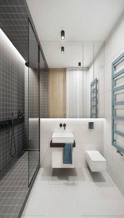 12平米现代简约风格卫生间卫浴装修效果图