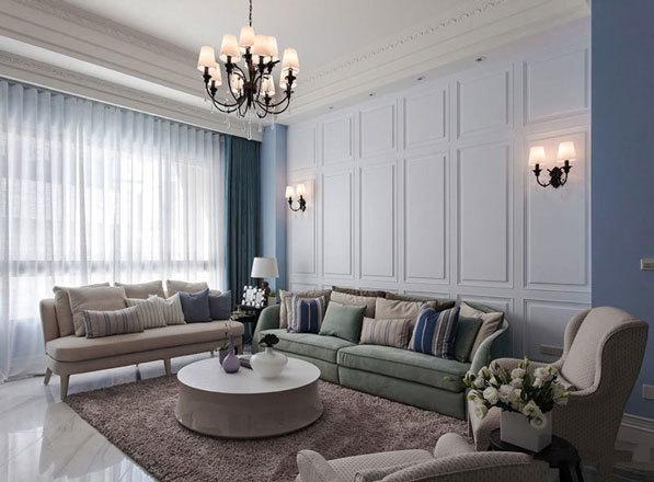 现代简约美式风格客厅设计装修效果图赏析