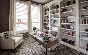 大户型简欧风格书房装修效果图实例欣赏