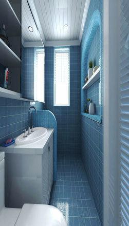 地中海风格蓝色卫生间装修效果图