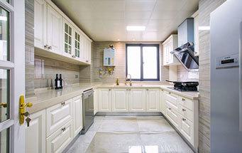简欧风格大户型精致浅色厨房橱柜装修效果图