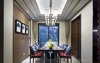 新中式风格大户型古典雅致餐厅装修效果图