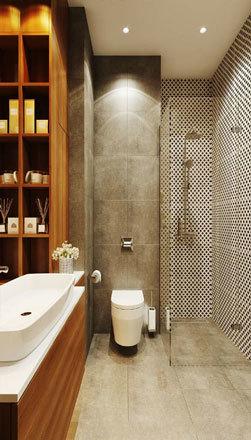现代风格大户型精致卫生间设计装修效果图