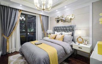 简欧风格温馨浅色精美卧室装修效果图