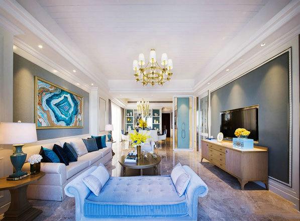 新古典主义风格大户型奢华客厅装修效果图