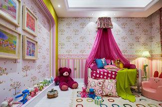 欧式风格大户型甜美儿童房装修效果图赏析