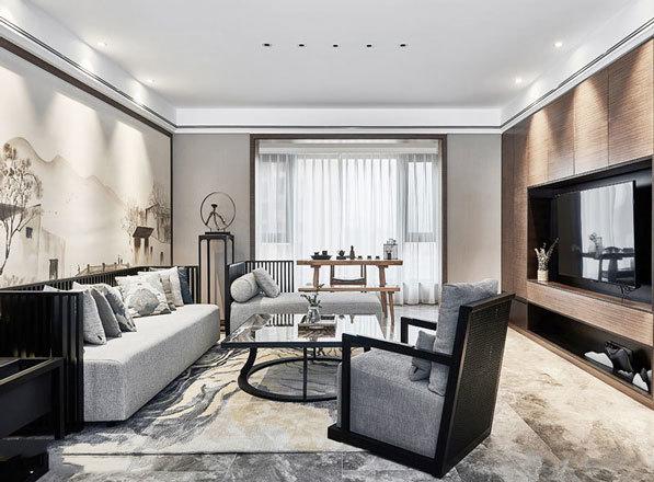 新中式风格精致客厅设计装修效果图赏析