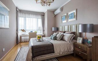 简欧风格浅色温馨卧室设计装修效果图