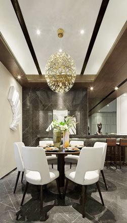 新古典风格精致餐厅设计装修实景图