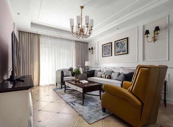 混搭时尚精美客厅设计装修效果图