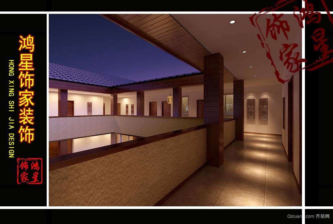 办公楼古典风格装修效果图实景图