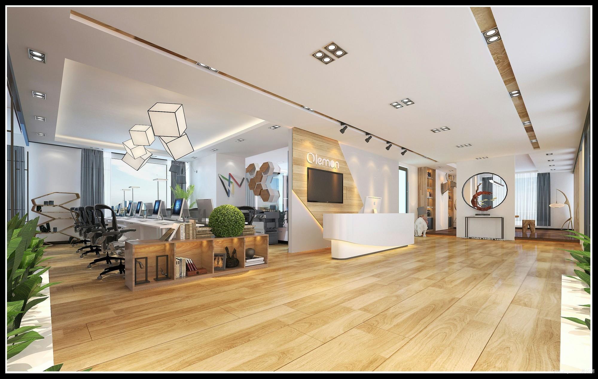利和办公空间现代简约装修效果图实景图