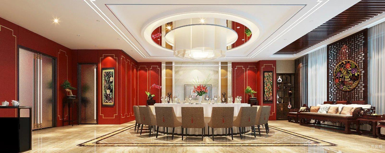 中式餐厅中式风格装修效果图实景图