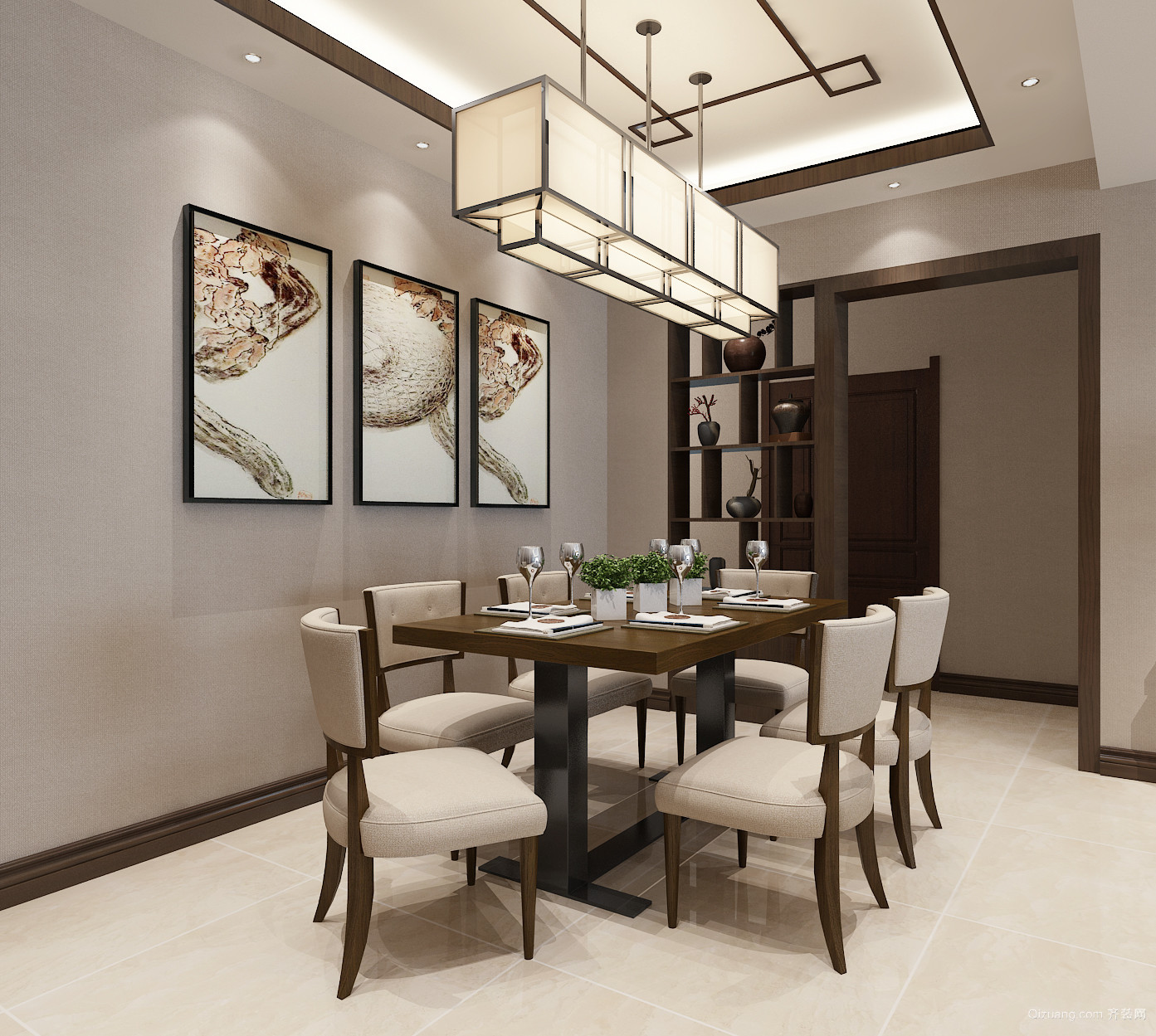 南城上邸中式风格装修效果图实景图