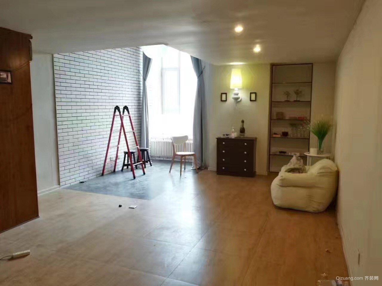 49平loft改造混搭风格装修效果图实景图