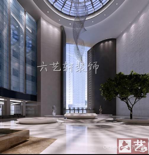 集团大厅地中海风格装修效果图实景图