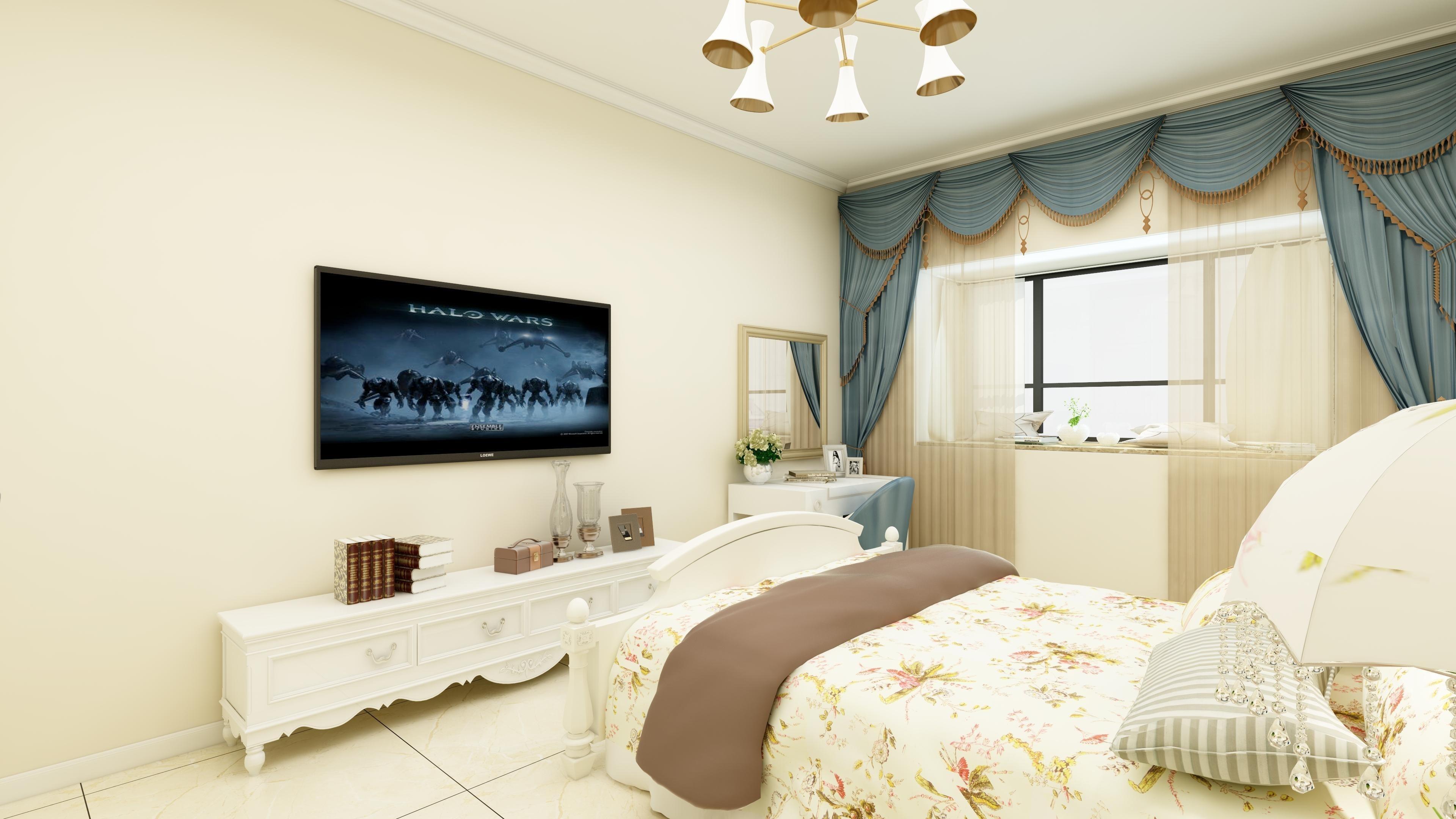 裕昌九州国际田园风格装修效果图实景图