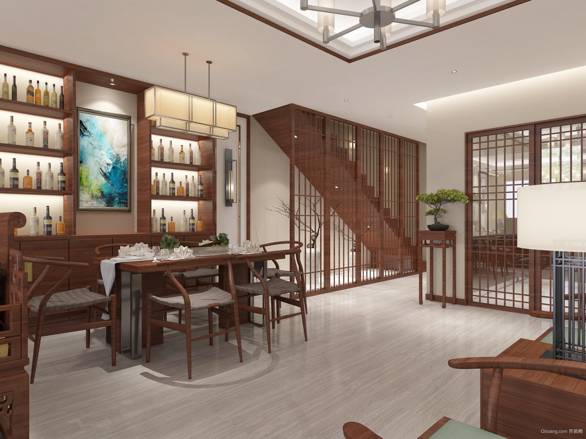 珠山秀谷·御墅中式风格装修效果图实景图