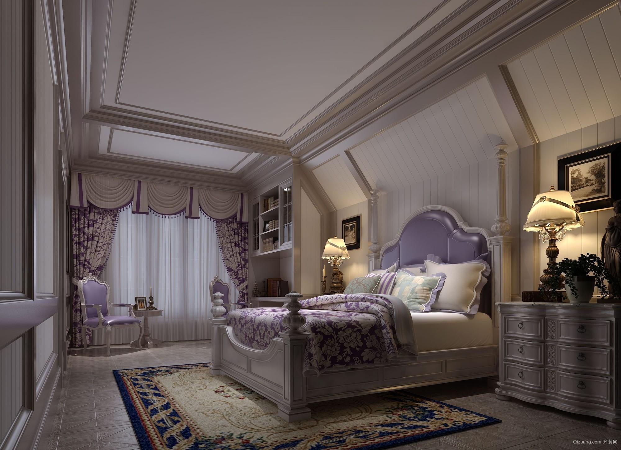 南昌别墅美式风格装修效果图实景图