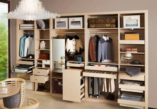 衣柜裤架高度,一般既要考虑到能够储存相应的