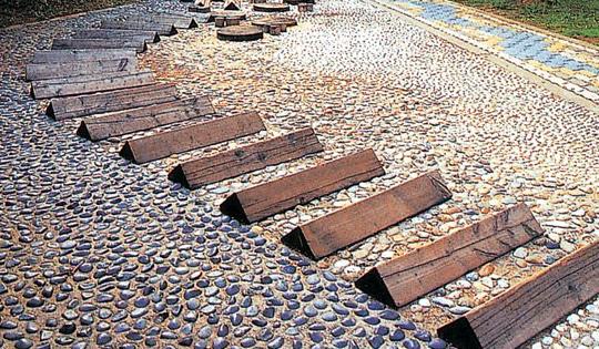 回归自然的鹅卵石铺装