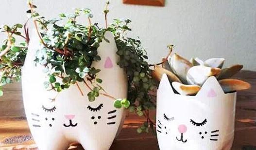 自制塑料花盆