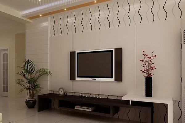 贴砖电视墙的设计要点高清图片