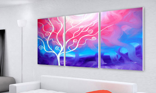 客厅现代装饰画,墙壁上的美好世界