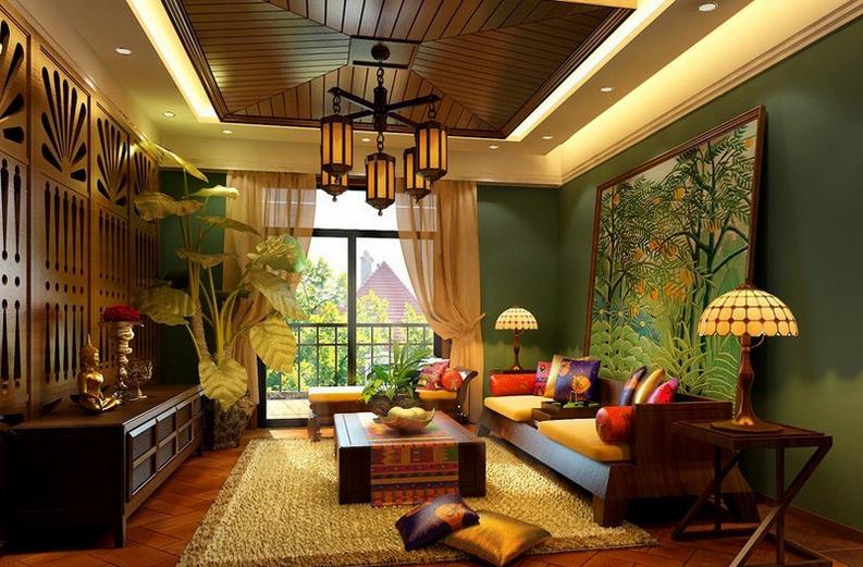 东南亚风格家居中的独特魅力!