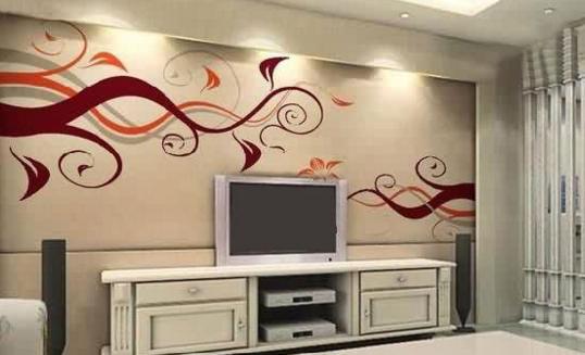 很多人都感兴趣的手绘背景墙