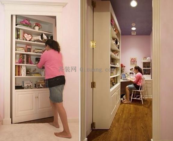 隐形门给家里增添不少悬疑色彩