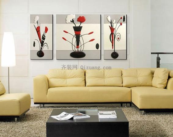 客厅装饰画,不是见好看就往墙上挂