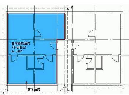 建筑面积示意图