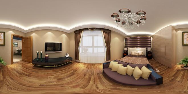 现代风格卧室全景效果图