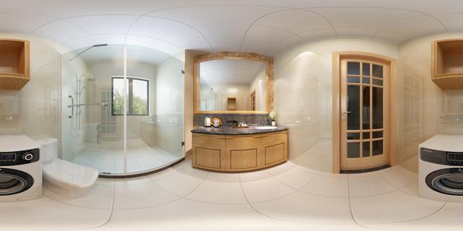中式卫生间设计全景图效果