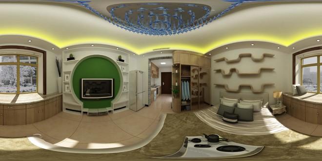 新中式风格卧室3D效果图