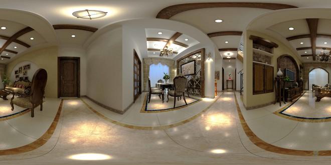 中式风格精致餐厅3D效果图