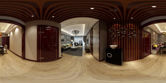中式风格古典精致客厅3D效果图